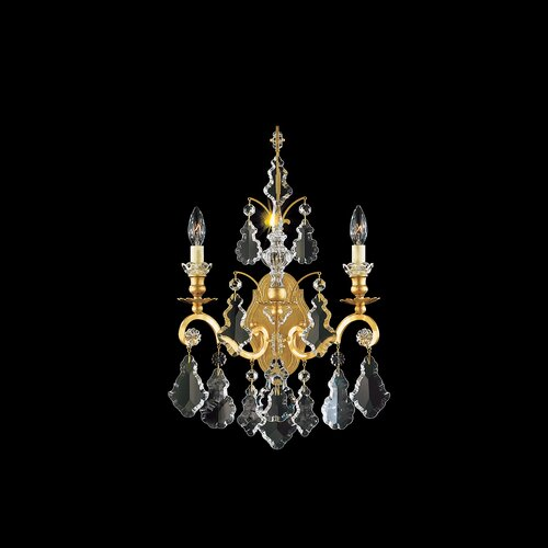 "Schonbek Versailles 15"" Two Light Wall Sconce"