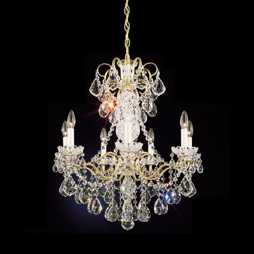 Schonbek New 7 Light Orleans Chandelier
