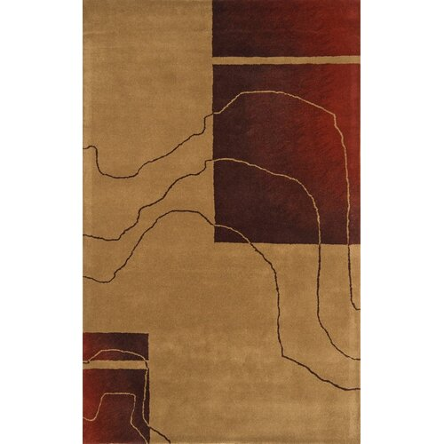 Continental Rug Company Edge Camel/Red Rug