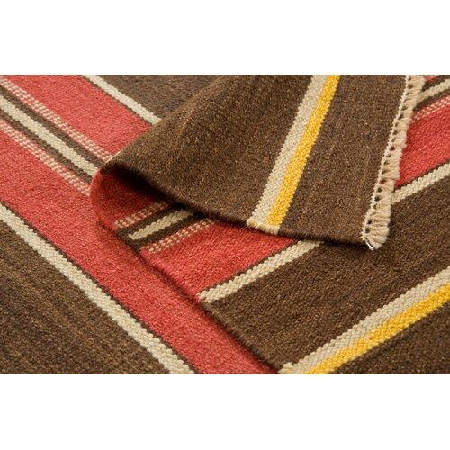 Continental Rug Company City Stripes Brown Rug