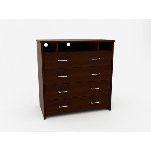Ameriwood Industries 4 Drawer Media Dresser