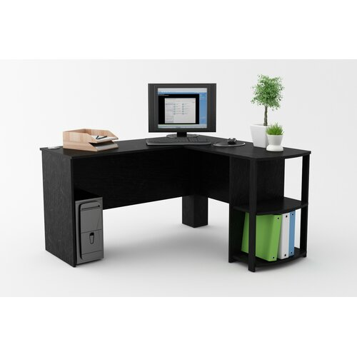 Ameriwood Computer Desk With 2 Shelves Amp Reviews Wayfair