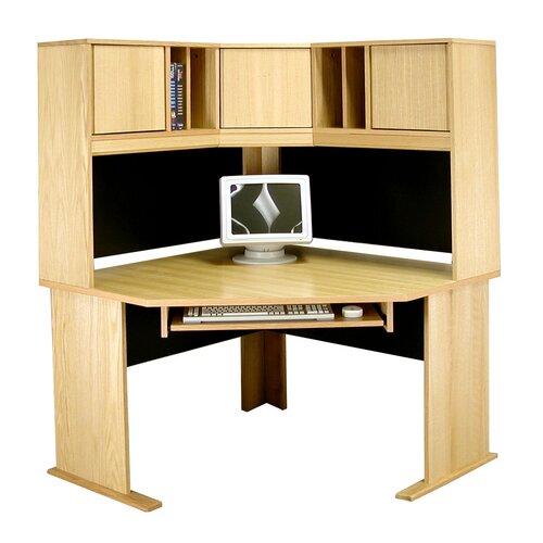 "Rush Furniture Modular 36"" H x 48"" W Panel Corner Desk Hutch"