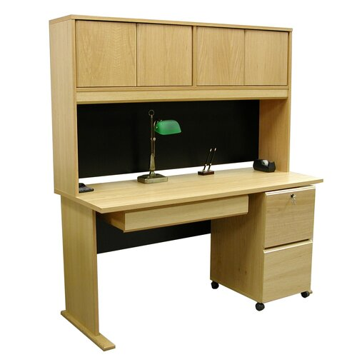 "Rush Furniture Modular 36"" H x 60"" W Panel Desk Hutch"