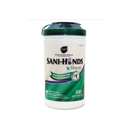 SaniWorks Professional Sani-Hands Ii Sanitizing Wipes, 300/Canister