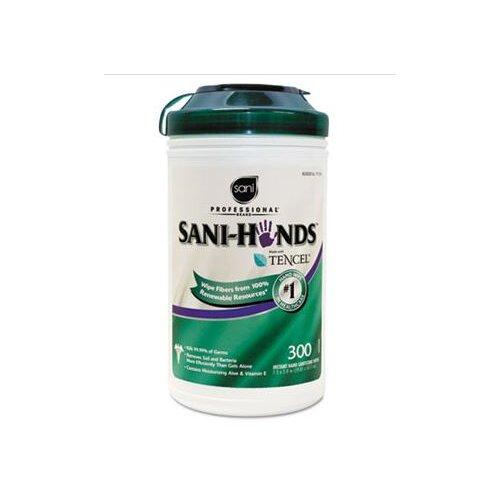 SaniWorks Professional Sani-Hands Ii Sanitizing Wipes, 300/Canister