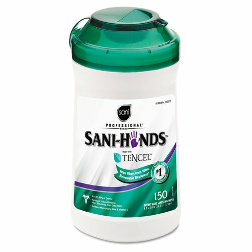 SaniWorks Professional San-Hands Ii Sanitizing Wipes, 150/Can