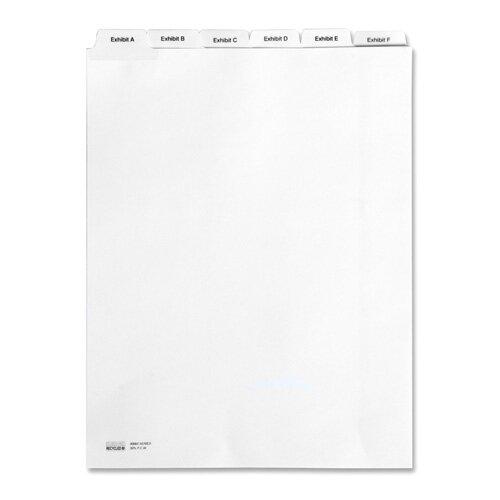 Kleer-Fax, Inc. Legal Divider,Exhibit A,Letter,Bottom Tab,1/6 Cut,White
