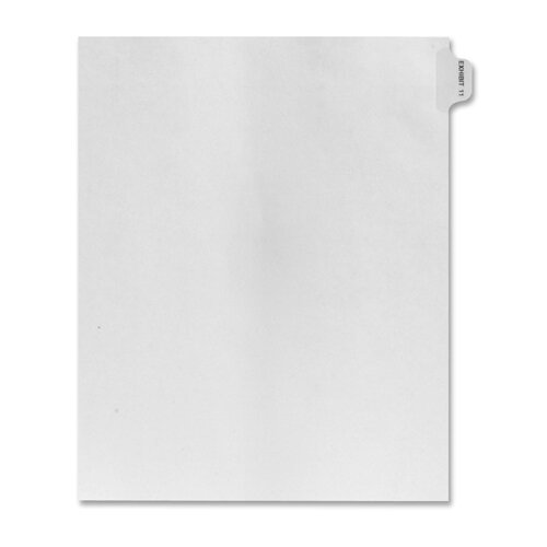 Kleer-Fax, Inc. Numerical Index Dividers, Exhibit 11, Letter, 10/BX White