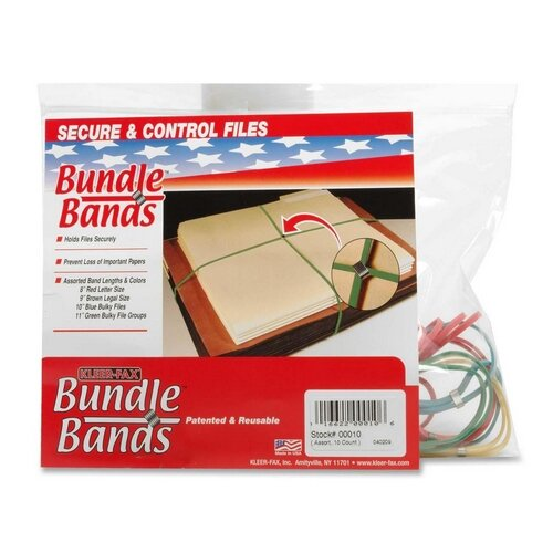 Kleer-Fax, Inc. Bundle Bands, 10 per Pack, Assorted