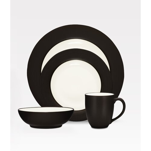 Colorwave Rim 16 Piece Dinnerware Set