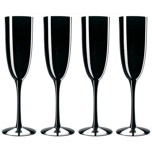 Palais Black Champagne Flute (Set of 4)