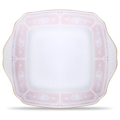 "Noritake Lacewood Gold Pink 11"" Square Plate"