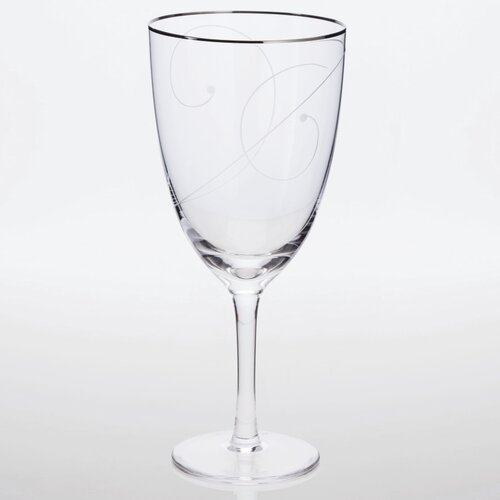 Platinum Wave Iced Tea Glass