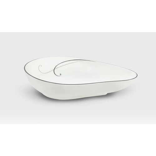 Noritake Platinum Teardrop Medium Serving Dish