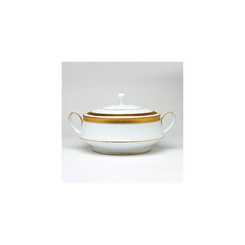 Noritake Crestwood Gold 48 oz. Covered Vegetable Dish