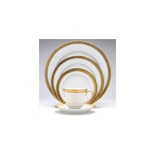 Noritake Crestwood Gold 20 Piece Dinnerware Set