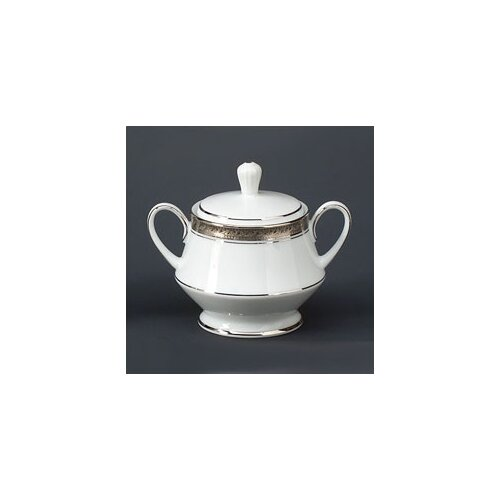 Noritake Crestwood Platinum 10 oz. Sugar Bowl with Cover