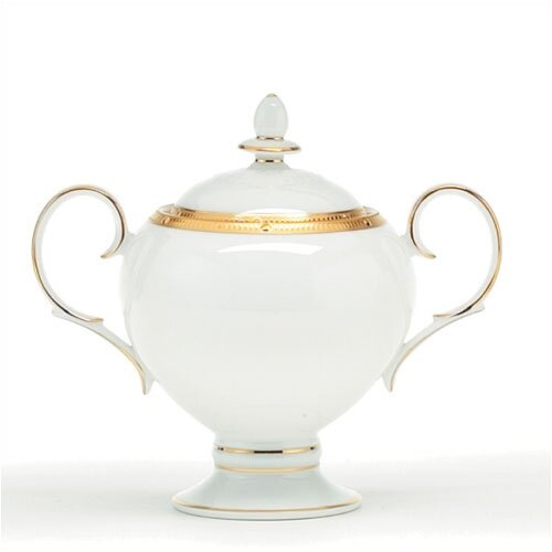 Noritake Rochelle Gold 9 oz. Sugar Bowl with Cover