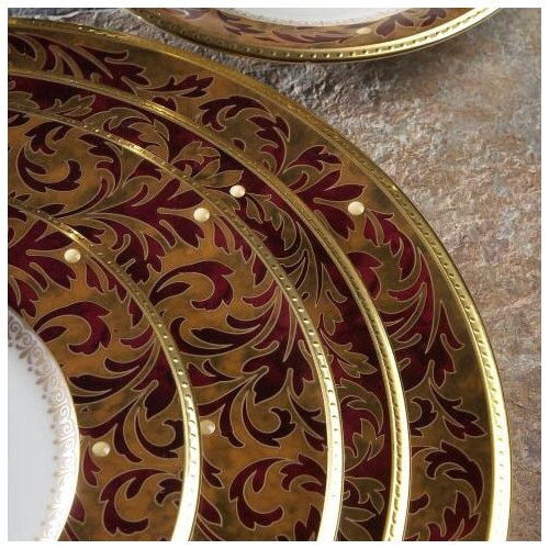 "Noritake Xavier Gold 9.75"" Vegetable Salad Bowl"
