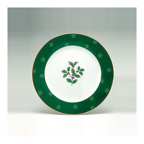 "Noritake Holly and Berry Gold 9"" Accent Plate"