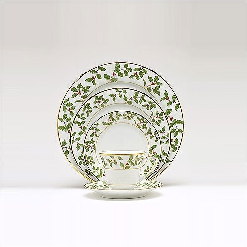 Noritake Holly and Berry Gold 5 Piece Place Setting