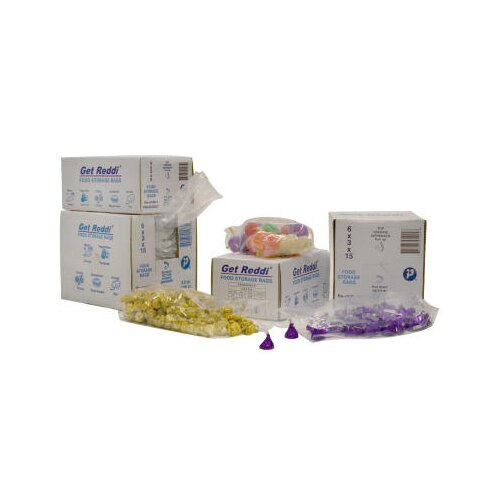 Inteplast Group 2 Quart Get Reddi Food and Poly Bag, 0.68 Mil in Clear