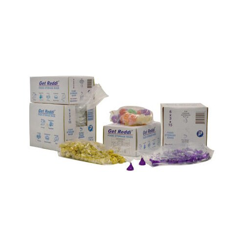 Inteplast Group 24 Quart Get Reddi Food and Poly Bag, 1.00 Mil in Clear
