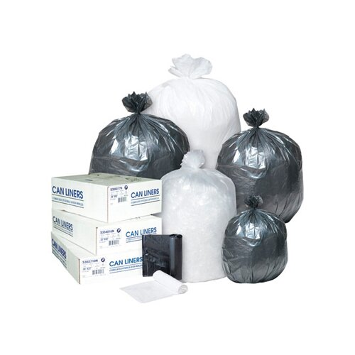 Inteplast Group 10 Gallon High Density Can Liner, 8 Micron in Clear