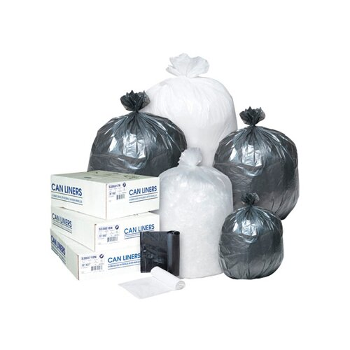 Inteplast Group 30 Gallon High Density Can Liner, 8 Micron in Clear