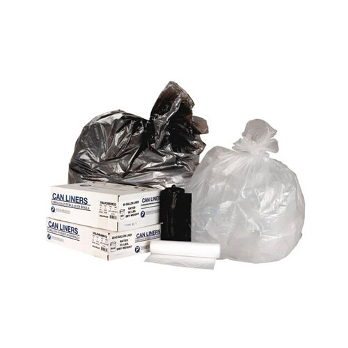 Inteplast Group 60 Gallon High Density Can Liner, 22 Micron Equivalent in Clear