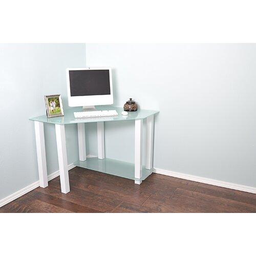 white lines corner computer desk wayfair. Black Bedroom Furniture Sets. Home Design Ideas