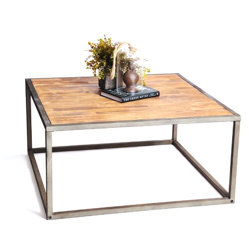 Rta home and office haven industrial square coffee table for Wayfair industrial coffee table