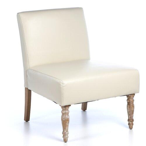 Handy Living Bradstreet Marzipan Slipper Chair