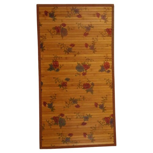 Naturesort Intersection Red Roses/Medium Brown Rug