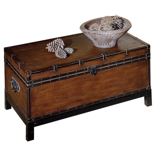 Steve silver furniture voyage trunk coffee table reviews wayfair Silver trunk coffee table