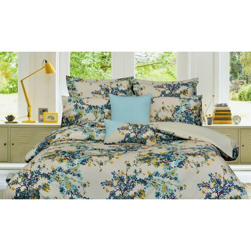 Casablanca 5-Piece Cotton Floral Duvet Cover Set