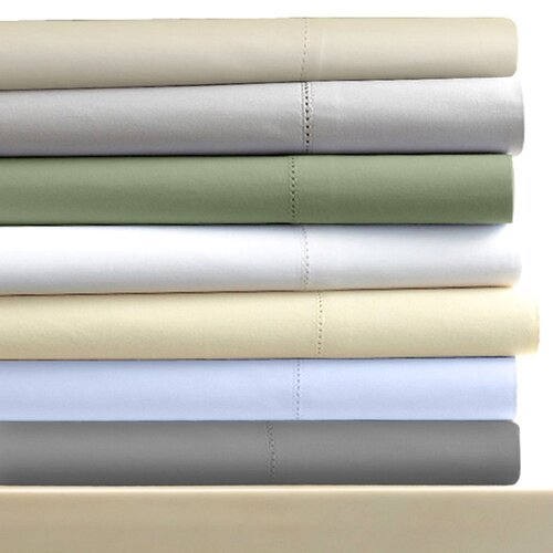 600 Thread Count 6-Piece Egyptian Cotton Sateen Deep Pocket Sheet Set