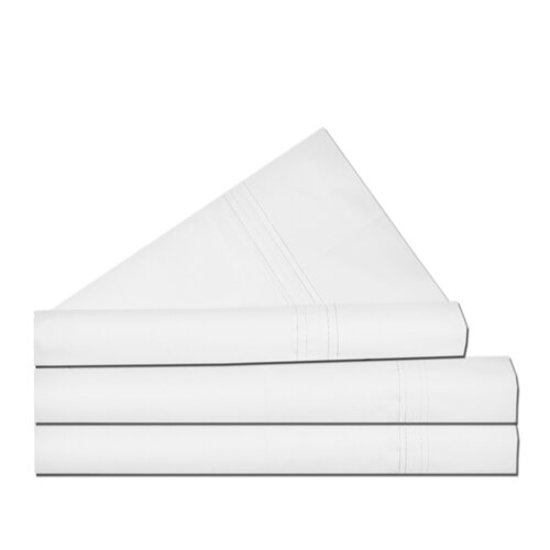 Tribeca Living 300 Thread Count Egyptian Cotton Percale Deep Pocket Sheet Set