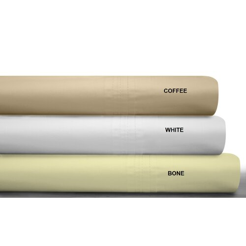 Tribeca Living 450 Thread Count Egyptian Cotton Percale Deep Pocket Sheet Set