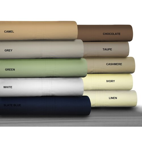 Tribeca Living 475 Thread Count Egyptian Cotton Percale Sheet Set