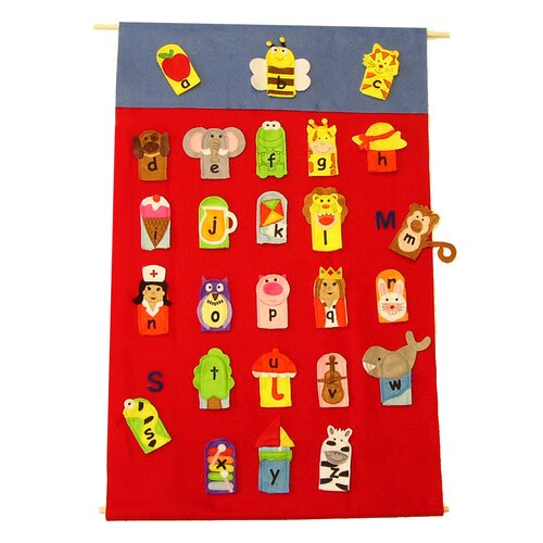 Get Ready Kids Alphabet Finger Puppet and Wall Chart