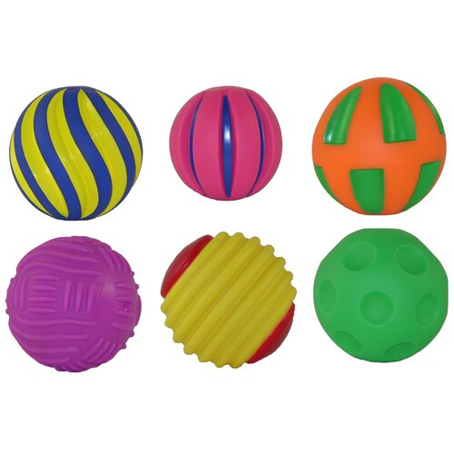 Tactile Squeak Balls Set (Set of 6)