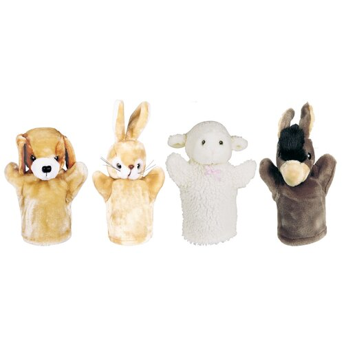 Get Ready Kids Farm Puppet Set (Puppy, Bunny, Donkey, Lamb)