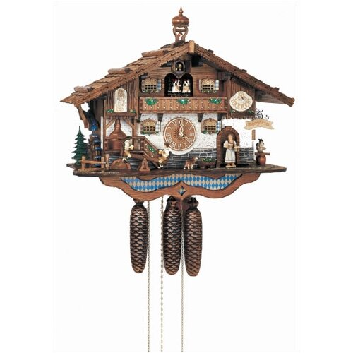 Bavarian Chalet Wall Clock