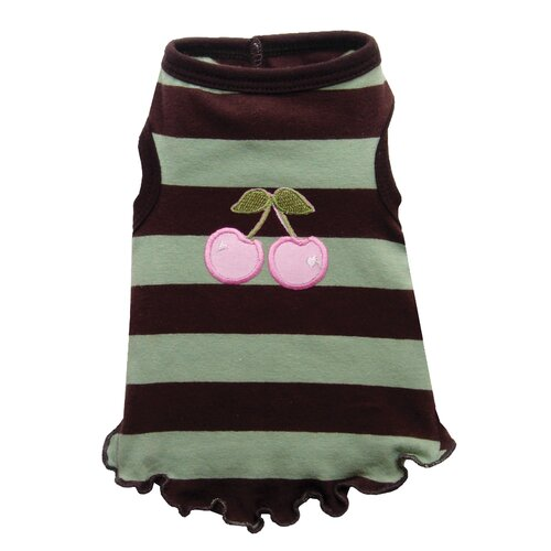 Hip Doggie Mocha Mint Dog Tank in Cherry