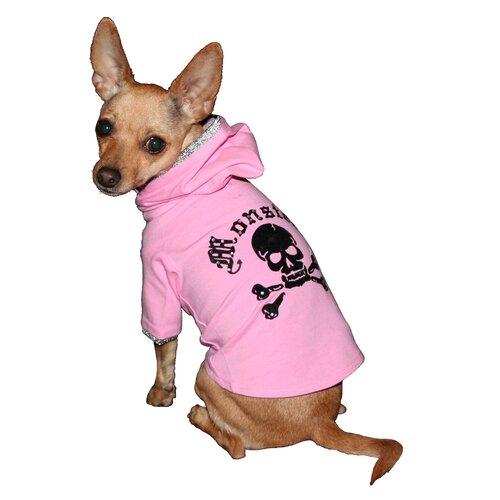 Monster Dog Hoodie in Pink