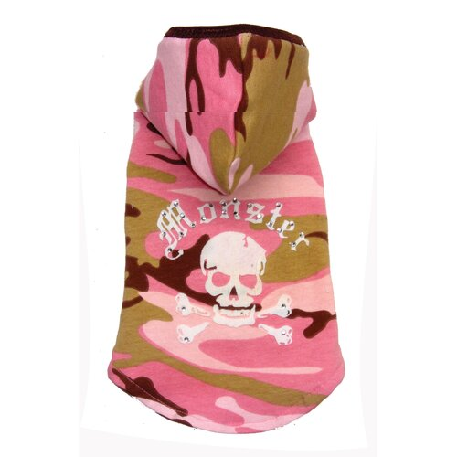 Monster Dog Hoodie in Pink Camo
