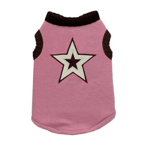 Hip Doggie Star Dog Sweater Vest in Pink