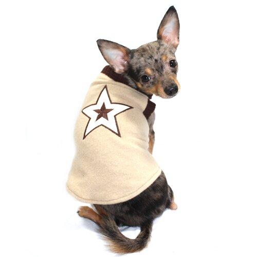 Hip Doggie Star Dog Sweater Vest in Tan